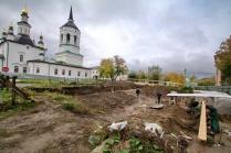 Раскопки старого кладбища