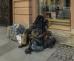 Спящий бездомный