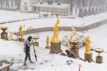 Большой Каскад зимой