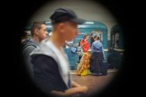 В метро.