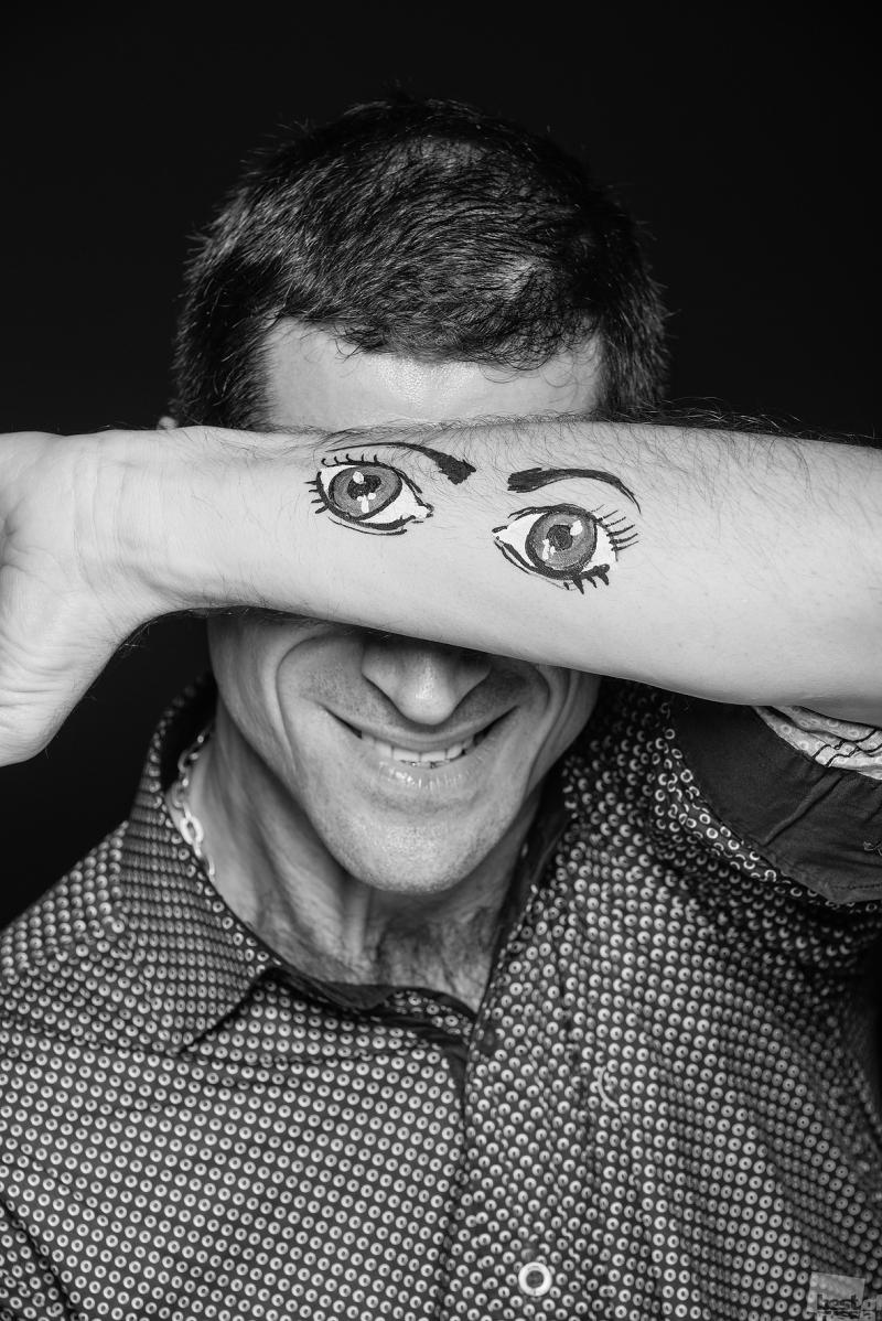 """Портрет мужчины в рамках проекта """"Не смотреть, но видеть"""""""