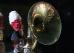 Геликон бас и групповое фото оркестра карабинеров Италии
