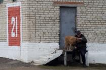 Дедушка и собака