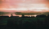 Багряный закат