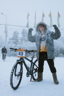 Финиш после самой холодной велогонки