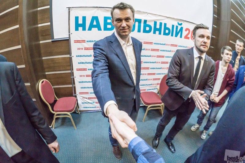 Пожал руку кандидату в президенты России