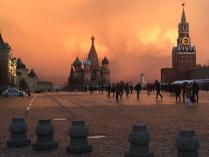 Москва в лучах тумана