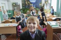 В деревенской школе перед уроком