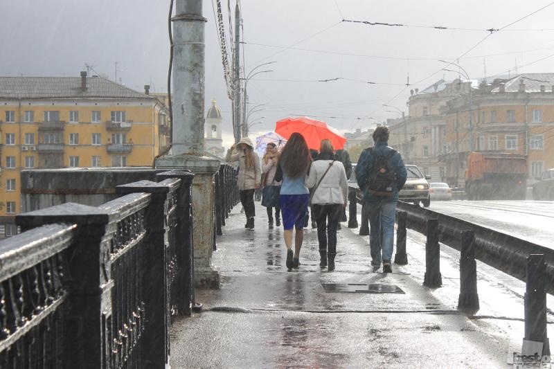 Дождь на мосту