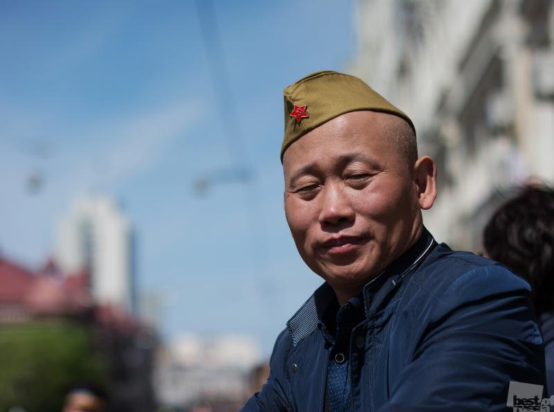 Гражданин КНР на параде Победы