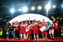 Спартак празднует победу в Чемпионате