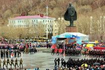 Парад Победы в Петропавловске-Камчатском.