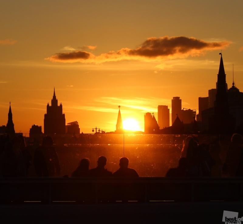 Закат с видом на Кремль