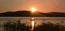 Рыбак на Аргазинском водохранилище
