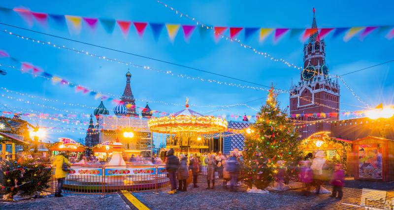 Рождественские ярмарки на Красной площади