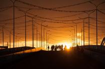 Закат в олимпийском парке.