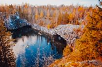Рускеала осенью
