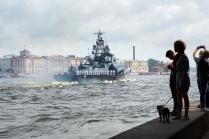 Парад кораблей ВМФ 30 июля 2017 года в Санкт-Петербурге на Неве.