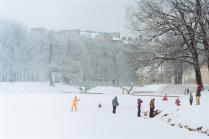 Зима в Таврическом саду.