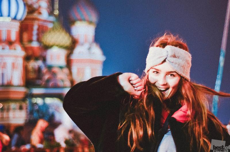 Москва, Красная площадь. Улыбка.