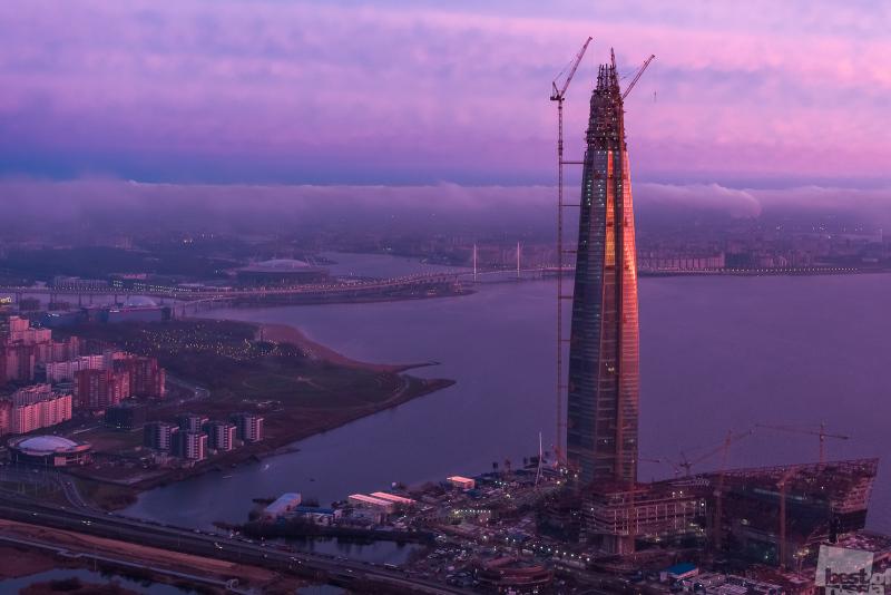 Строительство небоскреба Лахта-Центр