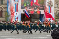 Главные знамена страны на Красной площади
