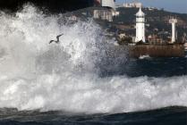 Storm hits Yalta, Crimea