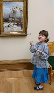 Юный экскурсовод в Третьяковской Галерее
