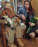 Выставка кукол Ирины Медянцевой, погибшей в террористическом акте в метро. С дочкой.
