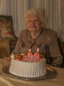 Моей маме - 90. Именинный торт.