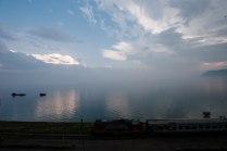 Вечерний вид на Байкал