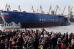 """Спуск на воду первого серийного атомного ледокола """"Сибирь"""" проекта 22220 в Санкт-Петербурге"""