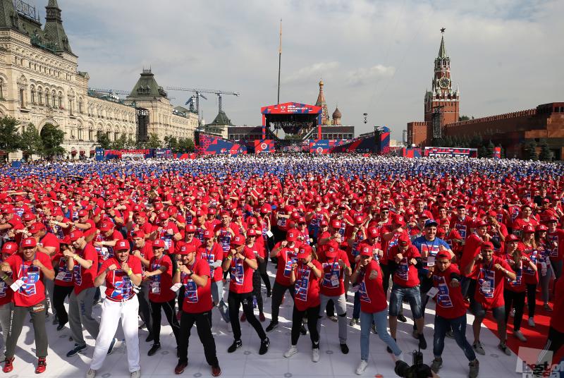 День российского бокса на Красной площади