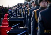 Прощание с погибшими в катастрофе самолета Ту-154 Минобороны РФ на Федеральном военном мемориальном кладбище