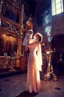 Крещение малыша в храме Святого Мученика Уара г. Вешки
