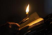 Вечерняя служба у старообрядцев казаков-некрасовчев. Пос. Новокумский Левокумского района Ставропольского края.