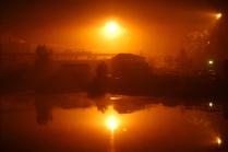 Ночь. Река Ягорба.