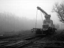 дрезина в тумане