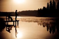 Два рыбака на восходе