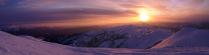 Закат на хребте Шешпир-Тайга
