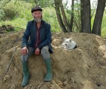 Пастух Серега и его собака Дашка