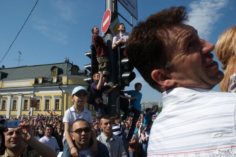 Воздушный парад над Москвой.