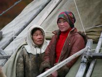 Стойбище оленеводов в долине реки Лангот-Юган. Семья Тайбери.