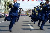 Марш-парад военных духовых оркестров по Невскому проспекту