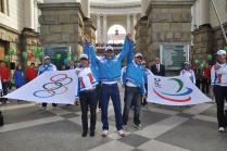 Встреча Олимпийских флагов в Сочи