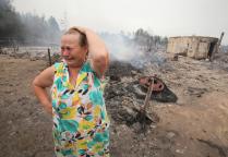 Жительница поселка Ласковский