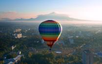 Утро с высоты полета аэростата