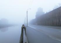 В туман по парапету