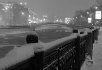 Метель на Озерковской набережной