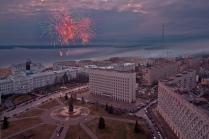 Праздничный салют в Архангельске